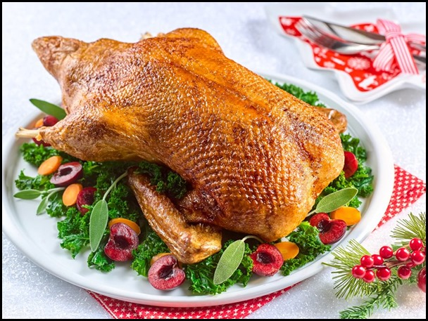 Festive Goodies - Whole Roast Duck with Cherry Sauce