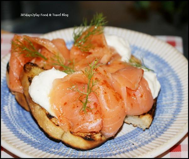 Jamie's Italian Christmas - Smoked Salmon Crostini