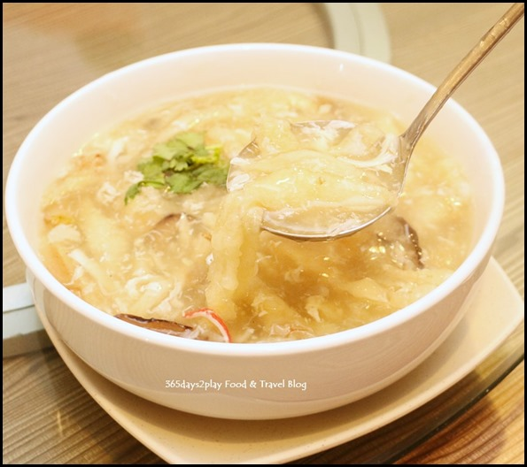 Gu Ma Jia CNY 2017 - Crab meat and fish maw soup