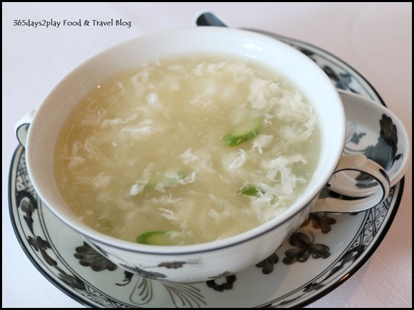 Ritz Carlton Summer Pavilion - Braised Bird's Nest Soup, Boston Lobster Meat, Bamboo Piths, Diced Asparagus (2)