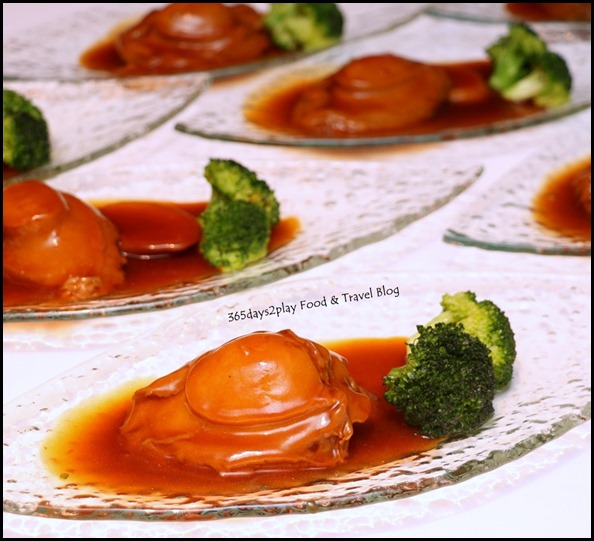 Yan Cantonese Cuisine - Braised 2 Heads Whole Abalone, Wild Mushroom & Sea Moss with Superior Oyster Sauce