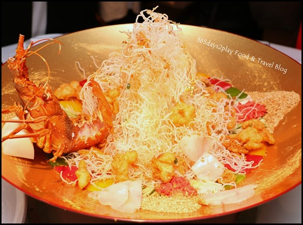 Yan Cantonese Cuisine - Yellowtail Fish & Crispy Lobster Fillet Yu Sheng with Golden Flake in Shun De Style (3)
