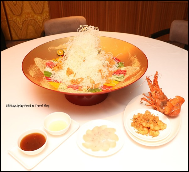 Yan Cantonese Cuisine - Yellowtail Fish & Crispy Lobster Fillet Yu Sheng with Golden Flake in Shun De Style (4)