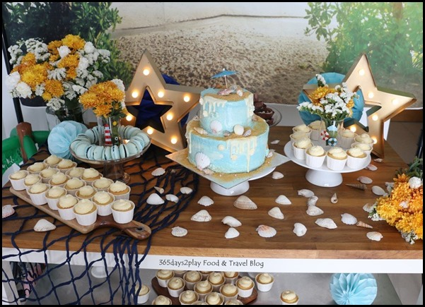 Seaside-themed birthday dessert table (1)