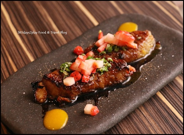 Izy Dining & Bar - Foie Gras (Foie Gras marinated with saikyo miso served with mango passion) $36