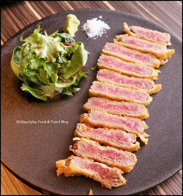 Izy Dining & Bar - Gyu Katsu (Rare Beef Cutlet served with 3 sauces) $35 (1)