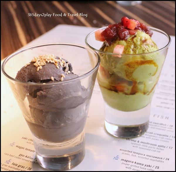 Izy Dining & Bar - Matcha and Goma Ice Cream $7 each (1)