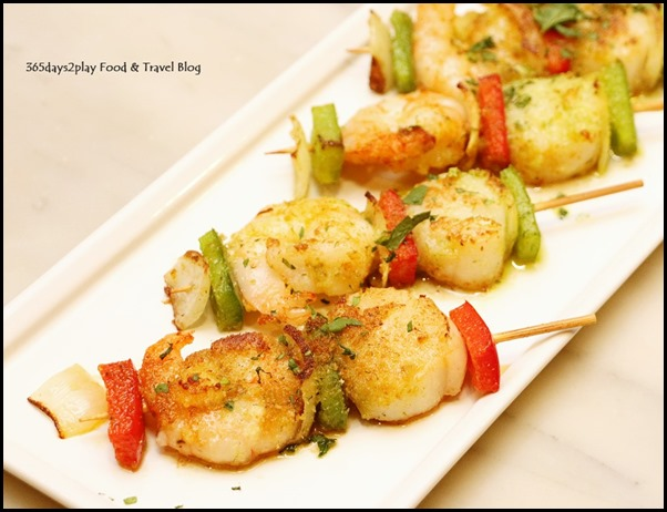 Marriott Cafe - Assorted Grilled Seafood Skewers