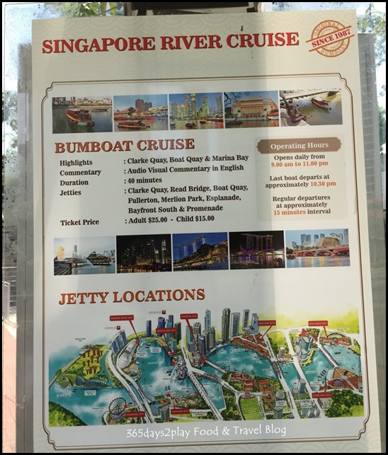 Singapore River Cruise Jetty Location