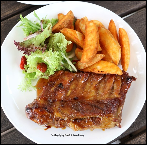 Coastes - Bourbon-glazed pork ribs Half slab $20 Full Slab $30 (1)