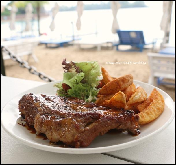 Coastes - Bourbon-glazed pork ribs Half slab $20 Full Slab $30 (2)