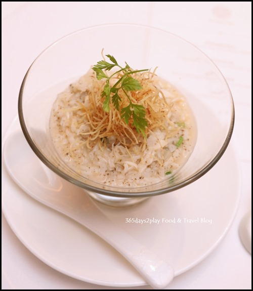 Fragrant Rice Soup with Chia Seeds and Crab Meat