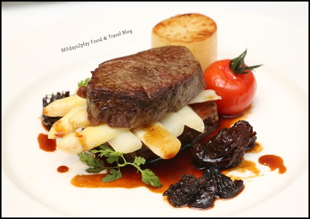 Marriott Pool Grill - Modern (Beef mille-feuille, butter poached white asparagus, morel sauce) $68 (2)