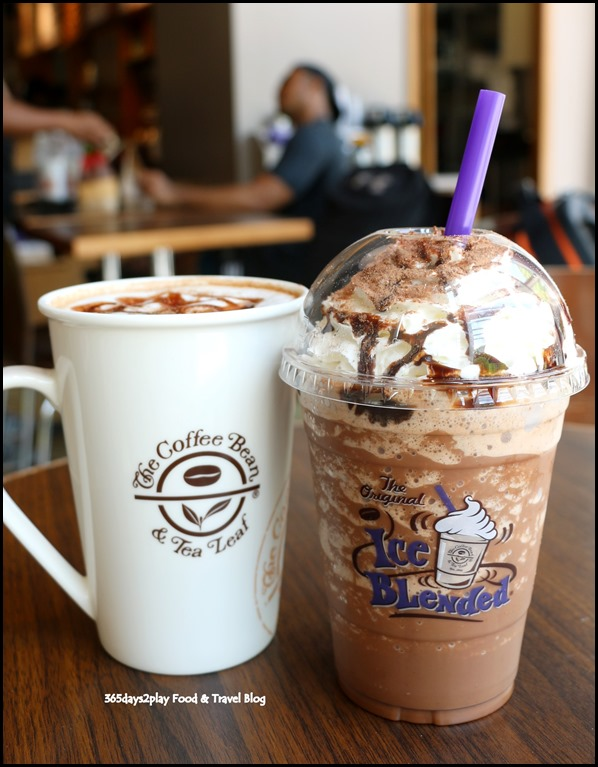 The Coffee Bean - Mexican Chocolate Ice Blended $7 and Mexican Chocolate Latte $7