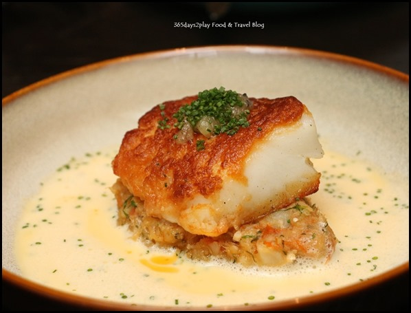 The Disgruntled Brasserie - Chilean White Cod (Salted cod brandade, Remy Martin VSOP scampi butter, lemon confit, normande sauce) $38   (2)