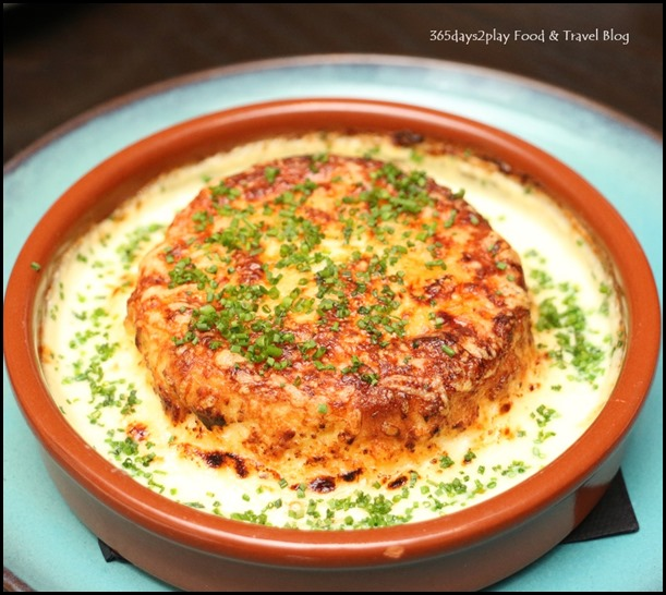 The Disgruntled Brasserie - Gruyere Cheese Souffle (Caramelised onions, chardonnay fondue) $16