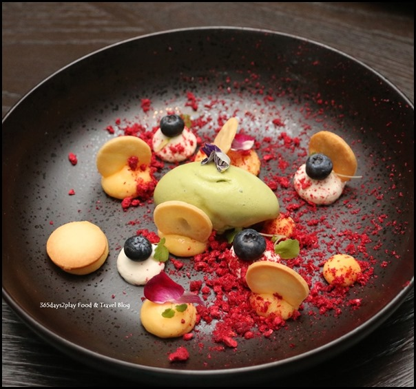 The Disgruntled Brasserie - Lemon Curd (Biscuit, wildberries, vanilla chantilly cream, shiso leaf ice cream) $16