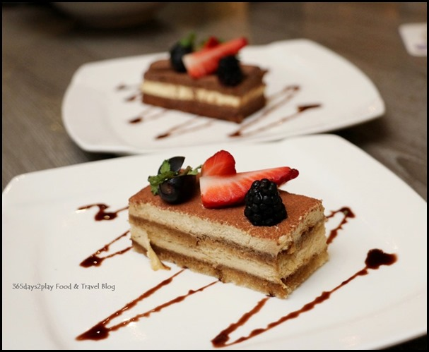 Breez Bistro Bar - Tiramisu $6 and Chocolate Orange Mousse $6