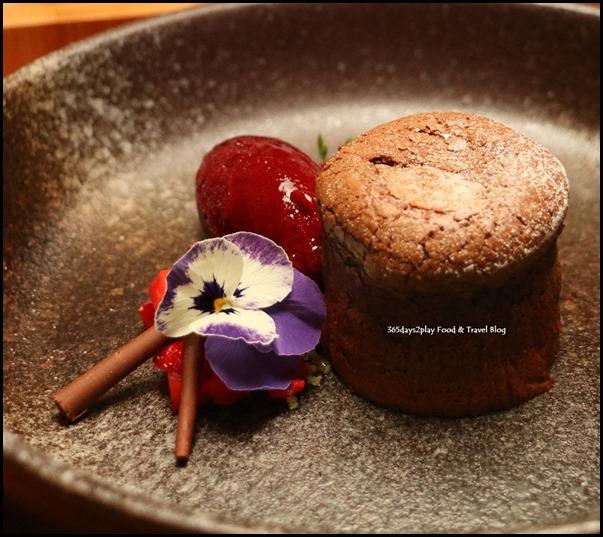 ME@OUE - Black Forest Molten Lava Cake