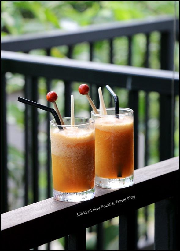Halia at SBG - Chilled Ginger Jive (Ice blend of fresh ginger, fruit punch, orange & honey) $12