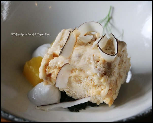 Halia at SBG - Ginger Spice All Things Nice (Coconut mousse, compressed pineapple, dehydrated coconut flesh) $11