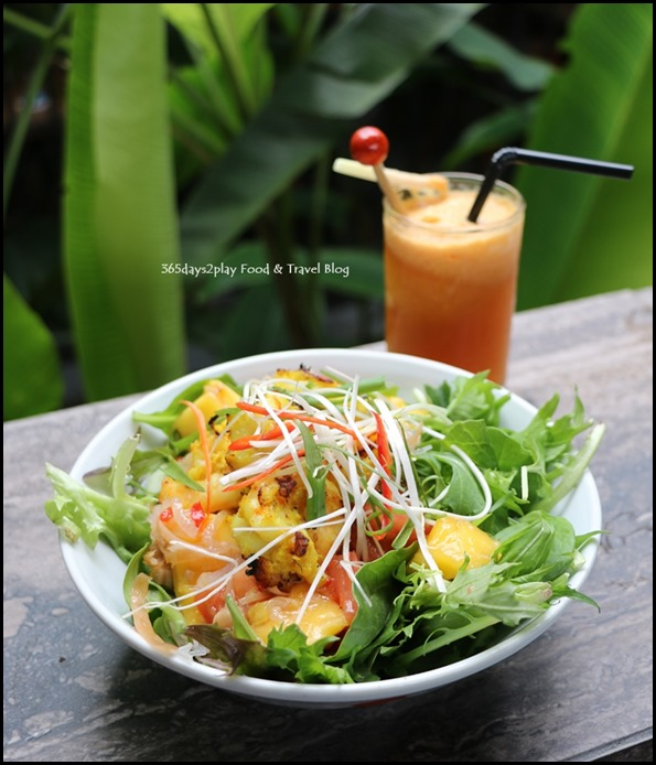 Halia at SBG - Lemongrass & Ginger Prawn Salad $19