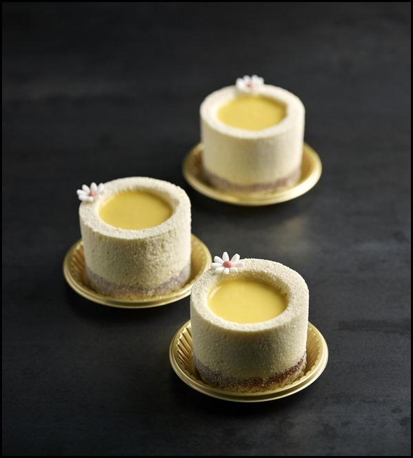 Antoinette - Salted egg cremeux with lotus seed mousse, coconut cake, salted peanut sesame praline crisp $9