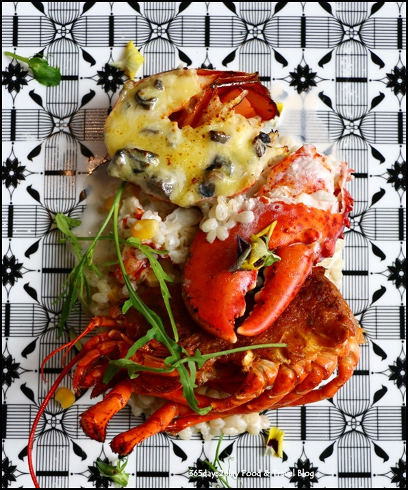 Arteastiq - Two Way Lobster (Lobster Thermidor and otah stuffed lobster shell, served with barley risotto) $38