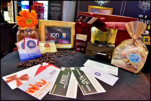 ION Orchard Culinary Creations 2017 - content inside the Chocolate gift box