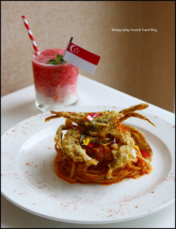 Lawry's The Prime Rib - Chilli Crab Pasta with Soft Shell Crab $38
