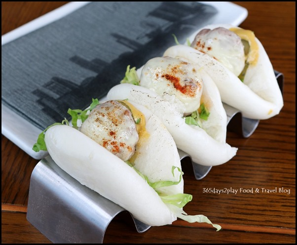 LeVeL33 - Cheeseburger Bao (Grilled beef patty, Swiss chese, burger sauce) $8