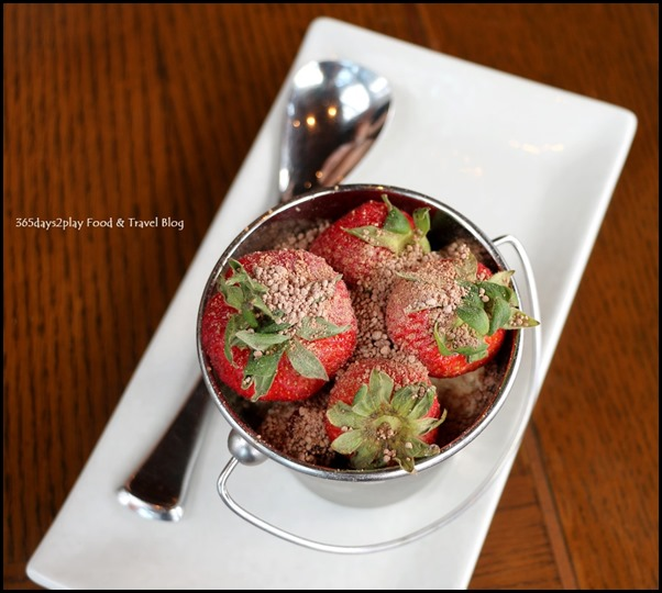 LeVeL33 - Strawberry Pot (Chocolate brownie, chocolate soil, vanilla mousse) $8 (2)