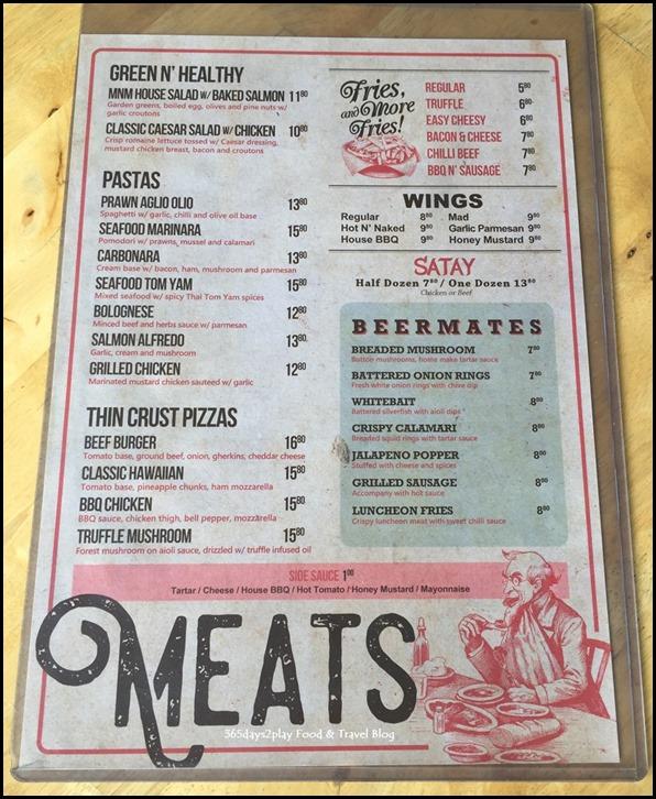 Meats & Malts menu (1)