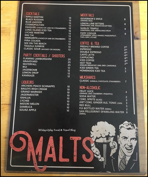 Meats & Malts menu (2)