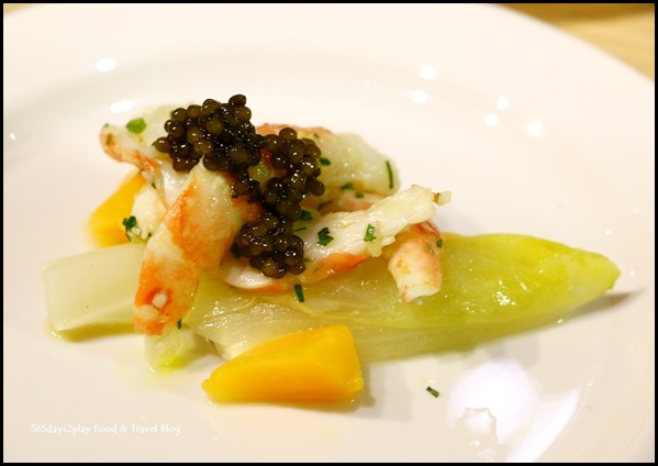 Epicurean Market - Poached Botan Shrimp with Compote of Egg and Oscetria Caviar from Waku Ghin