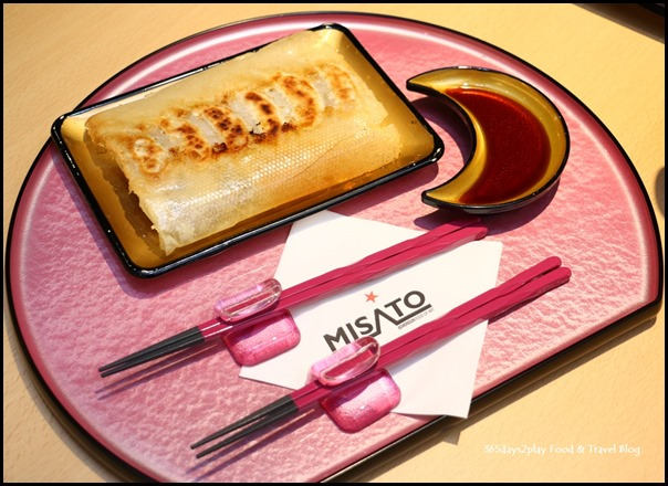 Misato - Handmade Gyoza (Steamed chicken and vegetable dumplings served grilled) $6.90 for 6 pieces, $10.90 for 10 pieces (2)