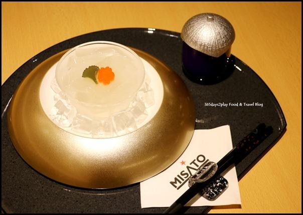 Misato - Kuzukiri (Japanese arrowroot slippery noodles served cold with kuromitsu dipping sauce) $8.80