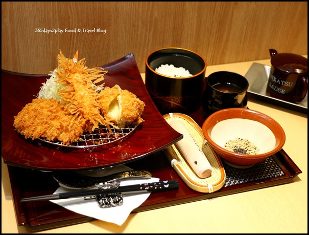 Misato - Mixed Fried Set (Bread crumbed chicken, tiger prawn and cheese korokke) $18.80  (1)