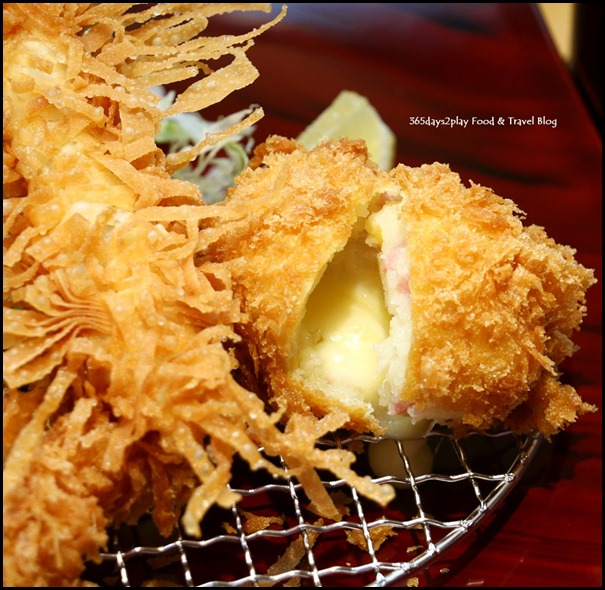 Misato - Mixed Fried Set (Bread crumbed chicken, tiger prawn and cheese korokke) $18.80  (2)