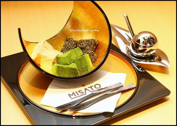 Misato - Sanshoku Warabi Mochi (Japanese mochi comprising 3 flavours - Goma, kinako and matcha) $8.80  (2)