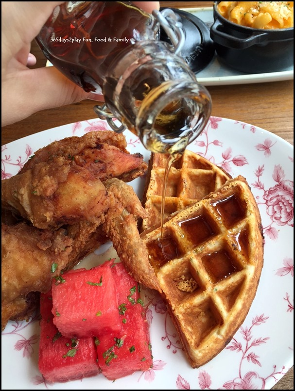 The Bird Southern Table & Bar - Chicken N Watermelon N Waffles  (1)