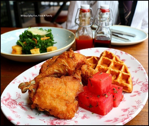 The Bird Southern Table & Bar - Chicken N Watermelon N Waffles  (3)