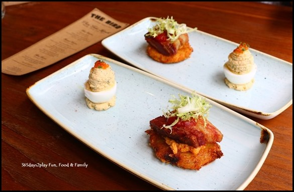 The Bird Southern Table & Bar - Deviled Eggs and Fried Green Tomato BLT