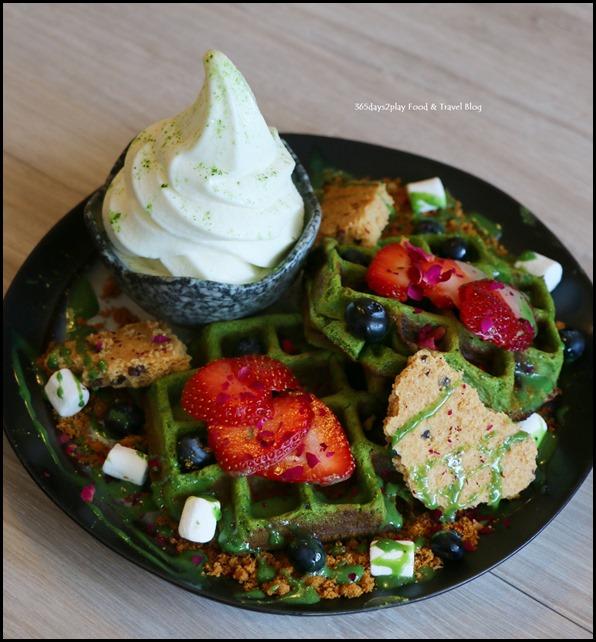 Kara Cafe & Dessert Bar - Mochi Waffle $12.50