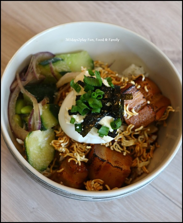 Kara Cafe & Dessert Bar - Pork Belly Miso Grain bowl $16
