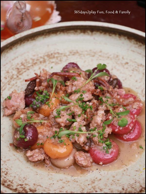 Antoinette - Hakka Gnocchi with dried shrimp, foie gras, cured pork and morel mushrooms $24 (1)