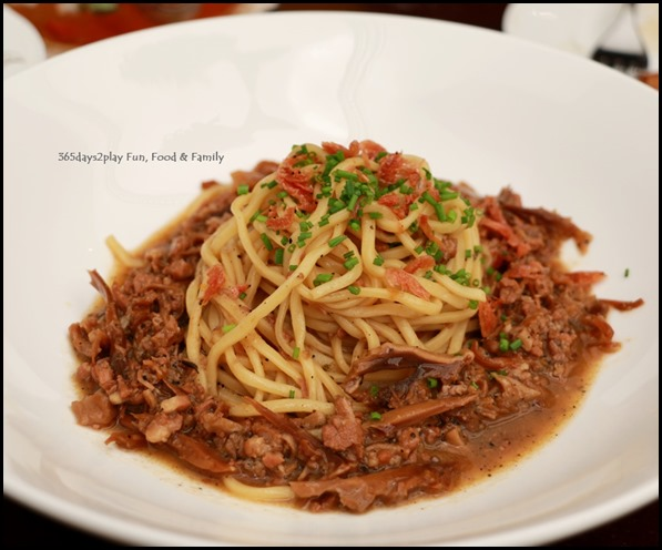 Antoinette - Spaghetti with pork belly ragout with cuttlefish and ebi sakura $24