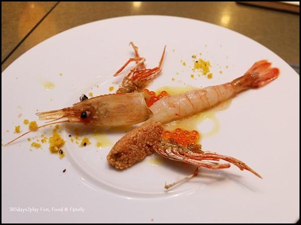 Five Nines - Marinated Botan Shrimp and Couscous Salad