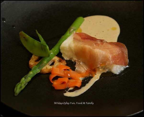 Five Nines - Steam Cod Fish Rolled With Parma Ham with porcini cream sauce (2)