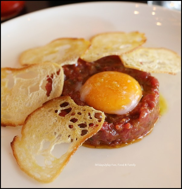 Grand Hyatt Melbourne Collins Kitchen - Beef Tartare bathed in Brisket Drippings $16